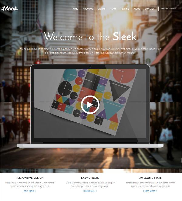 Multipurpose Landing Page Bootstrap WP Theme $44