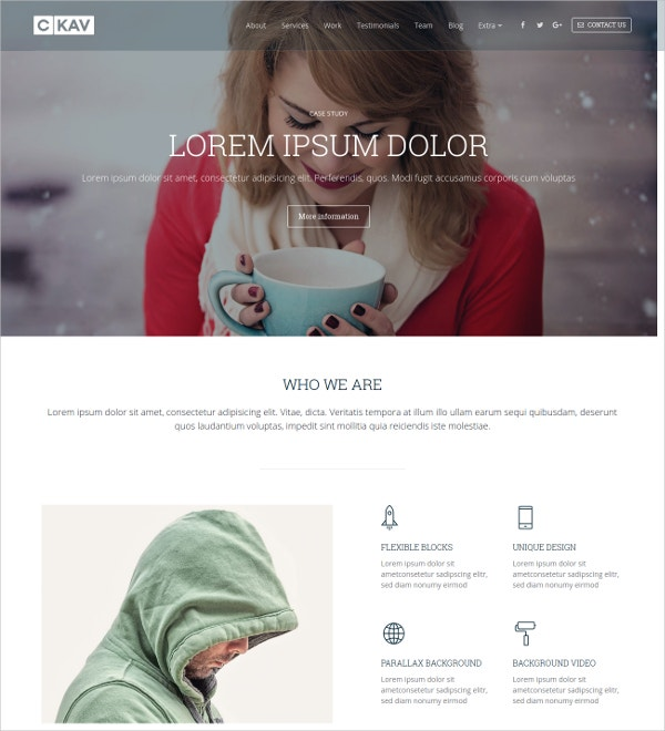 one page bootstrap landing page template 14