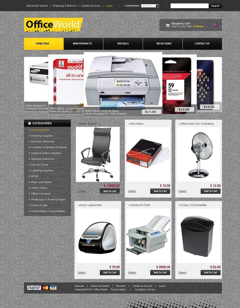 Office OsCommerce Template