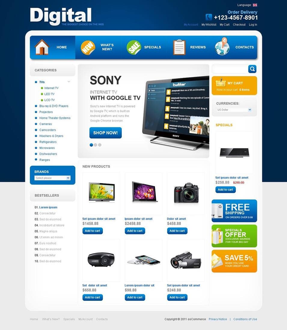 Business OsCommerce Template