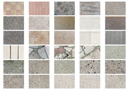 33 textures with pavement