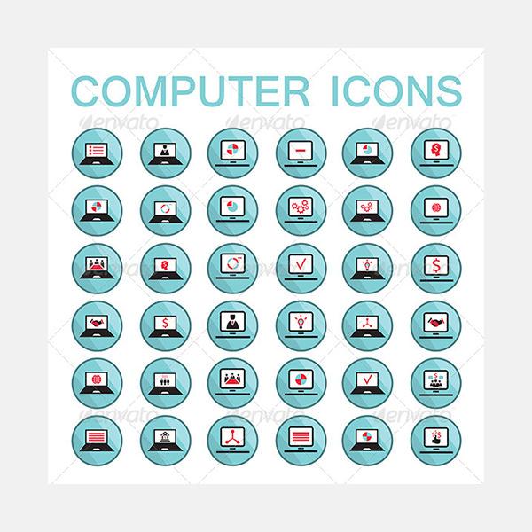 36 Computer Icon Set