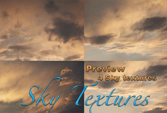 4 sky textures 4