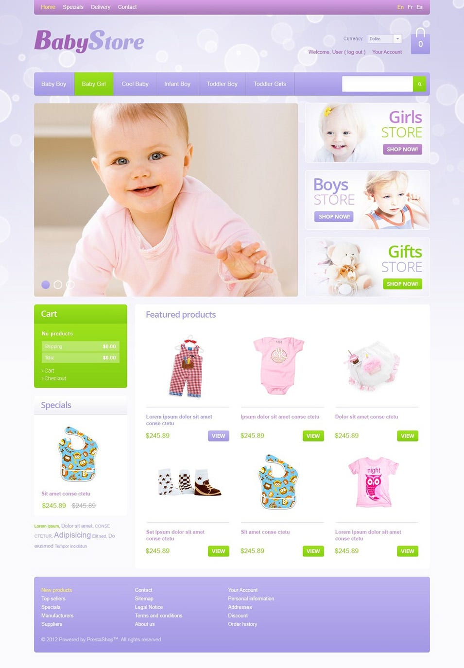 baby store prestashop website templates themes free premium free premium templates. Black Bedroom Furniture Sets. Home Design Ideas