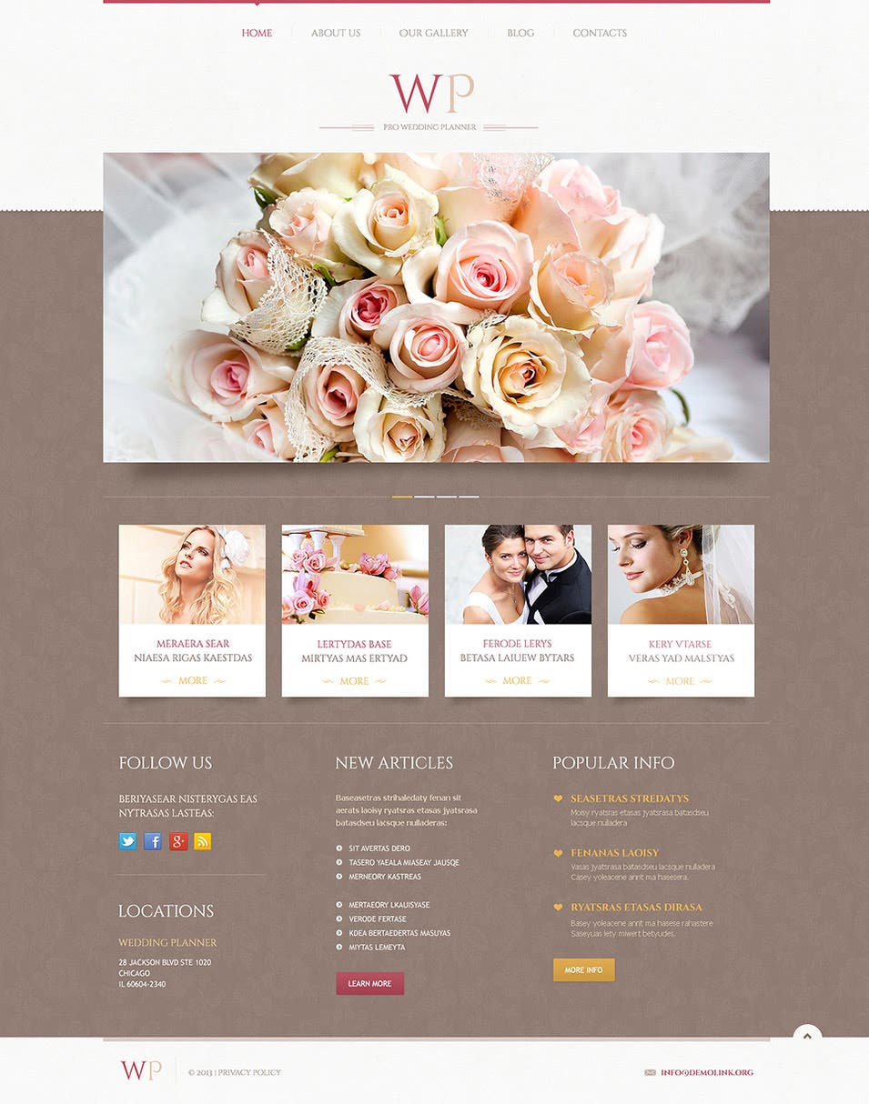 wedding ideas websites 19 best wedding event planner website templates free 27941