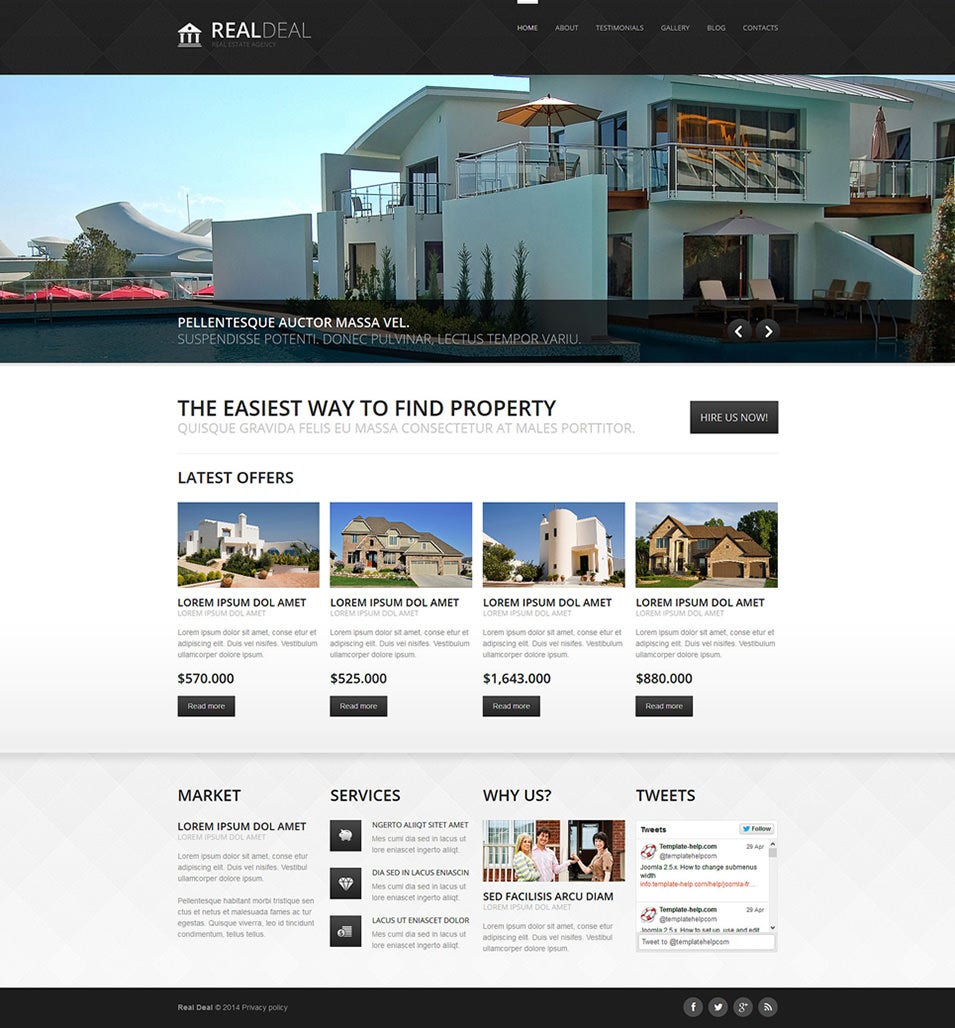 template 49393 - Apartment Website Design