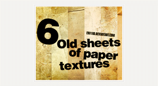 6 old sheets of paper textures set