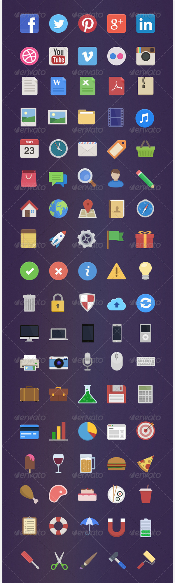 90 royalty free flat icons1