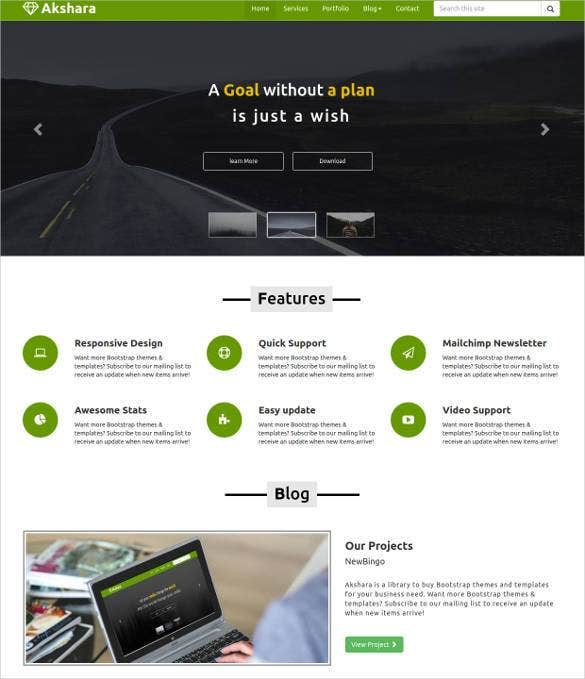 23 responsive html5 themes templates free premium for Aspx net templates