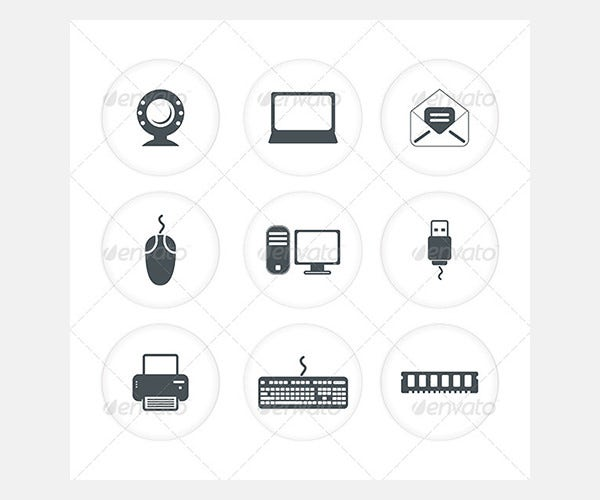 Abstract Computer Icon Set