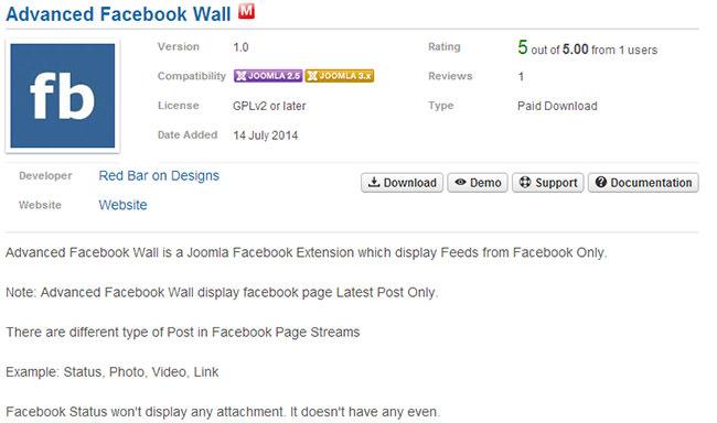 Advanced Facebook Wall