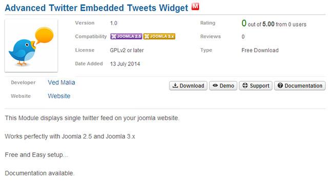 Advanced Twitter Embedded Tweets Widget