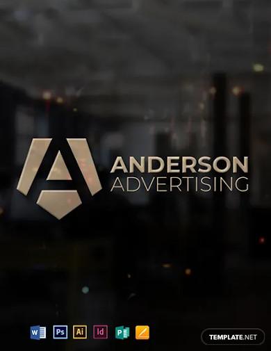 advertising agency logo design template