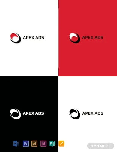 advertising consultant logo design template