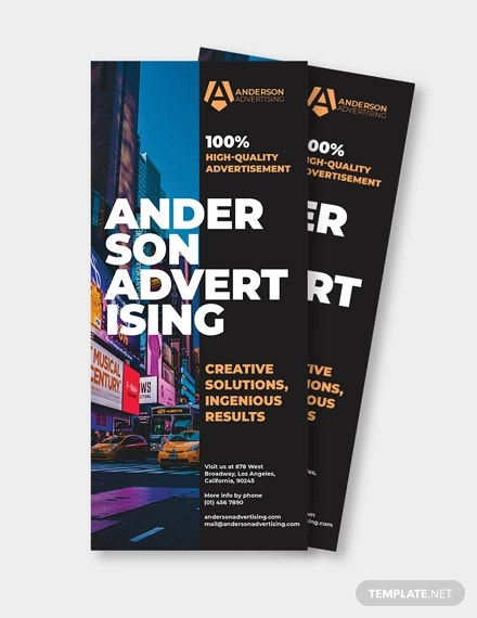 advertising agency rack card template