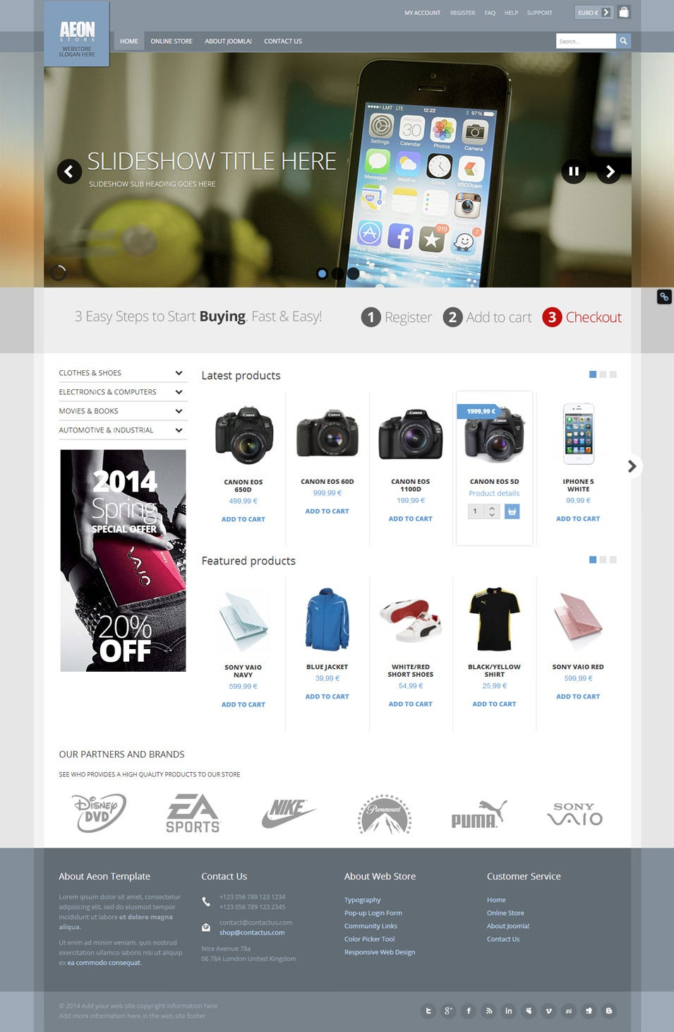 aeon virtuemart template