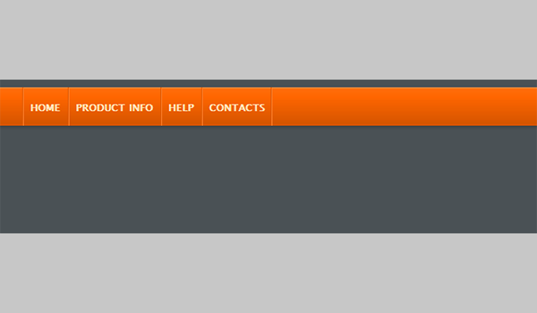 Animated jQuery Menu Style 08 (Orange Red)