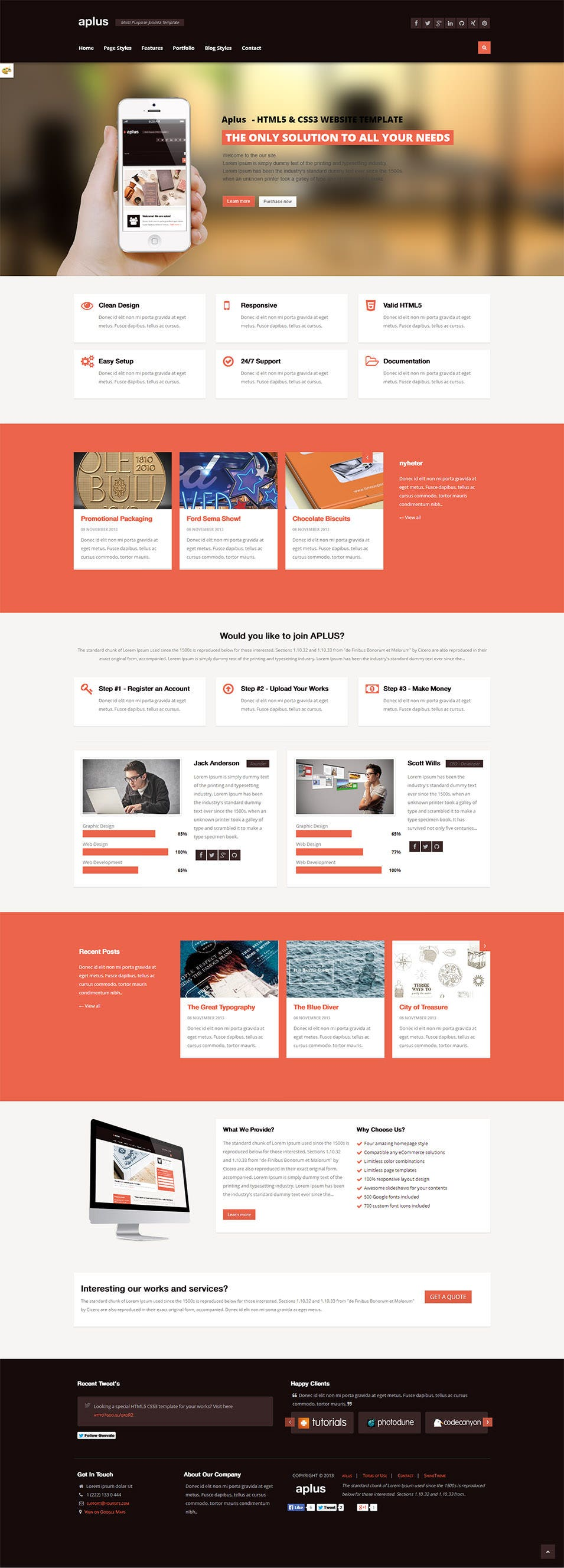 100 top class best cms templates in 2015 free premium templates