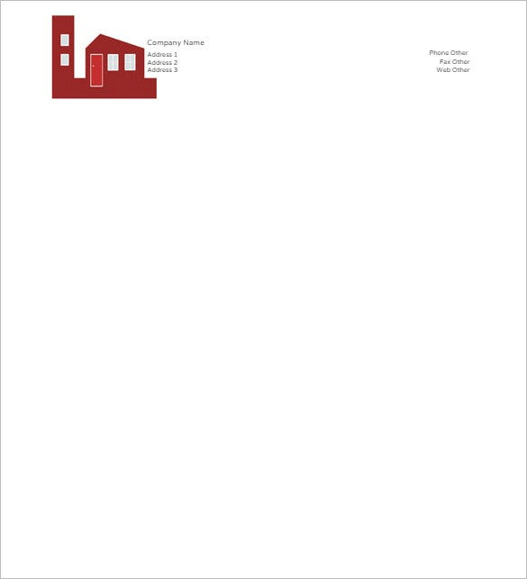 32 word letterhead templates free samples examples