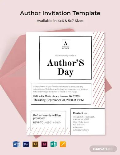 author invitation template