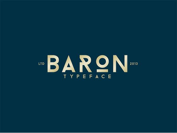 baron free typefamily