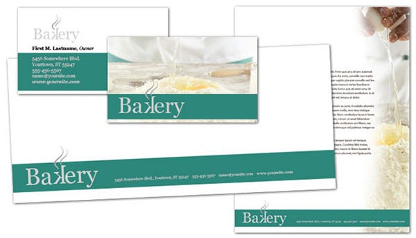bakery pastry restaurant envelope