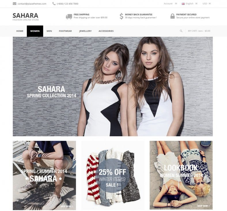 Beautiful Sahara Magento Theme