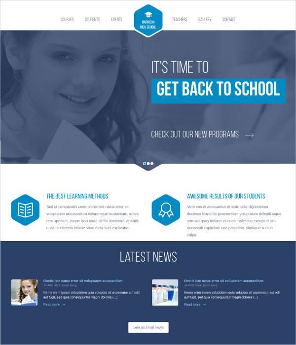 best high school education responsive wordpress th