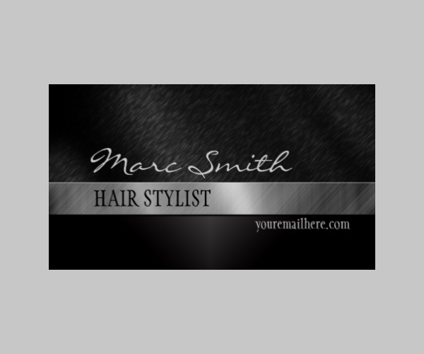 black stylish business card two sided