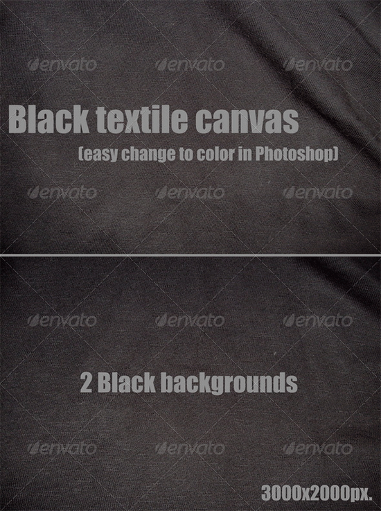 black textile canvas