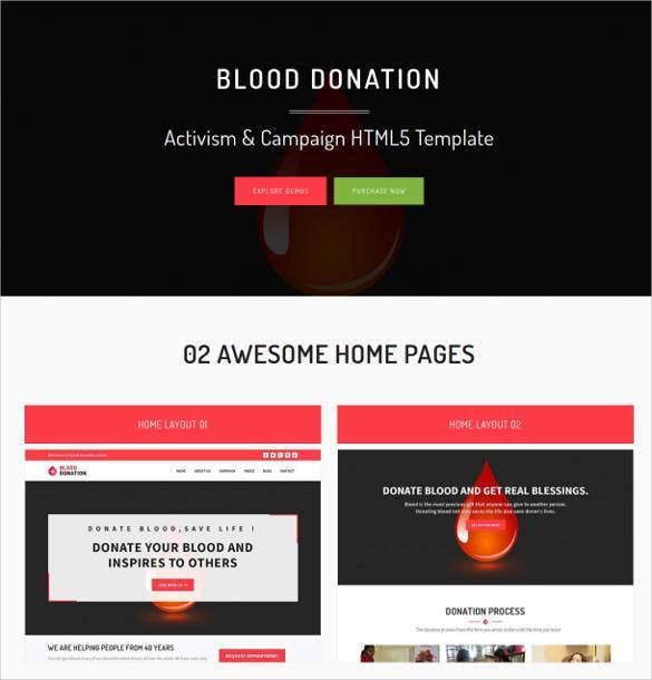 blood donation responsive website template1
