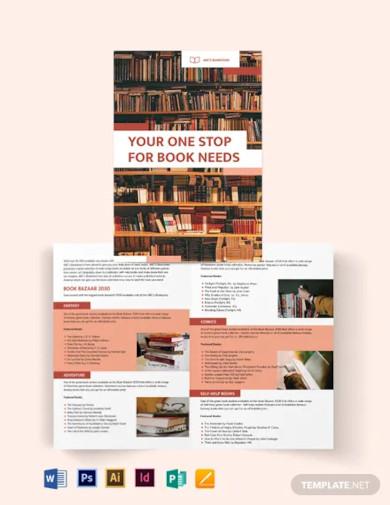 book bi fold brochure template