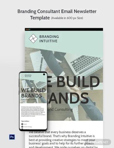branding consultant email newsletter template