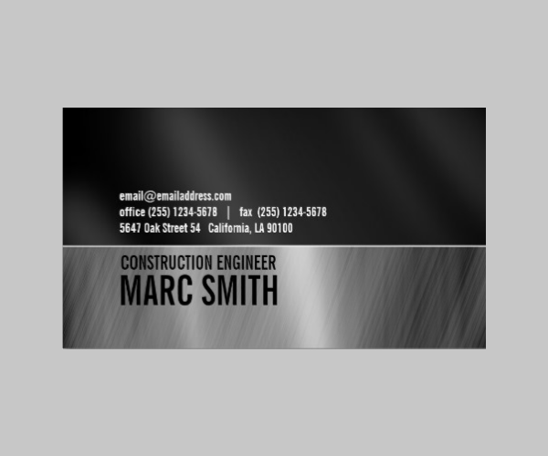 12 best cheap double sided business cards download free premium brushed metal frame business card two sided fbccfo Image collections