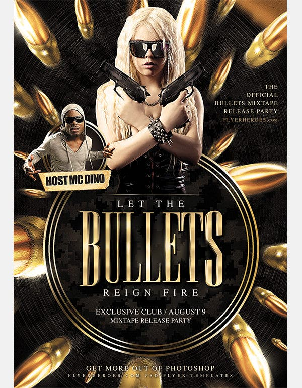 bullets flyer template