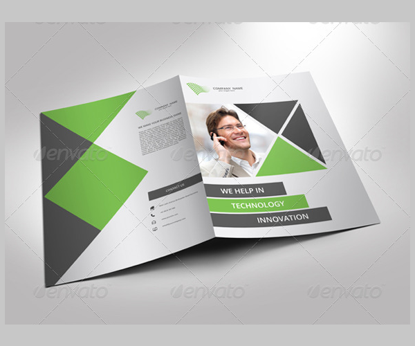 single fold brochure template - 12 modern business brochure psd templates free