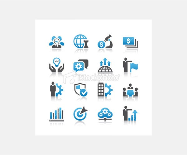 business icons illustration