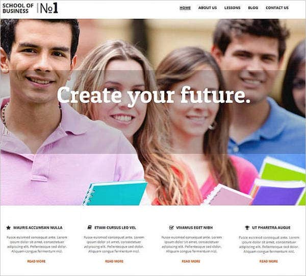 business-school-education-responsive-website