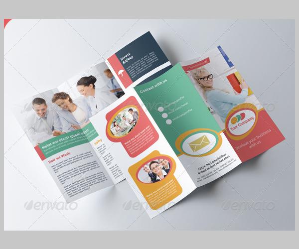 business tri fold brochure v004