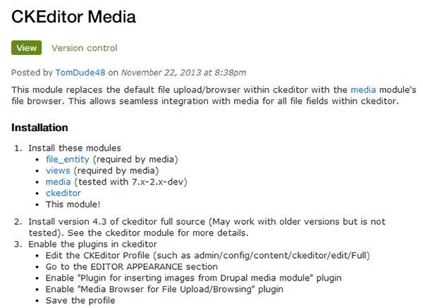 ckeditor media