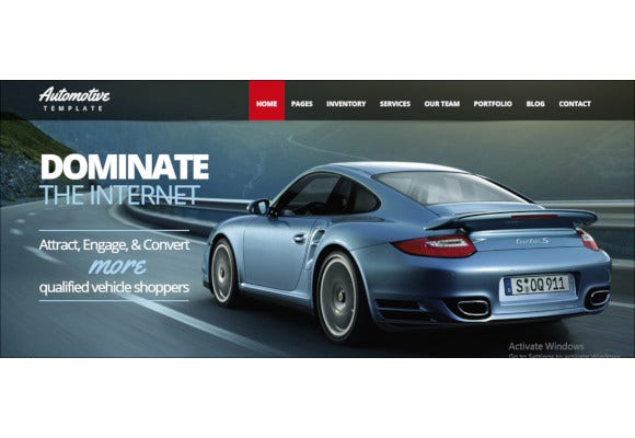 car dealership business html template