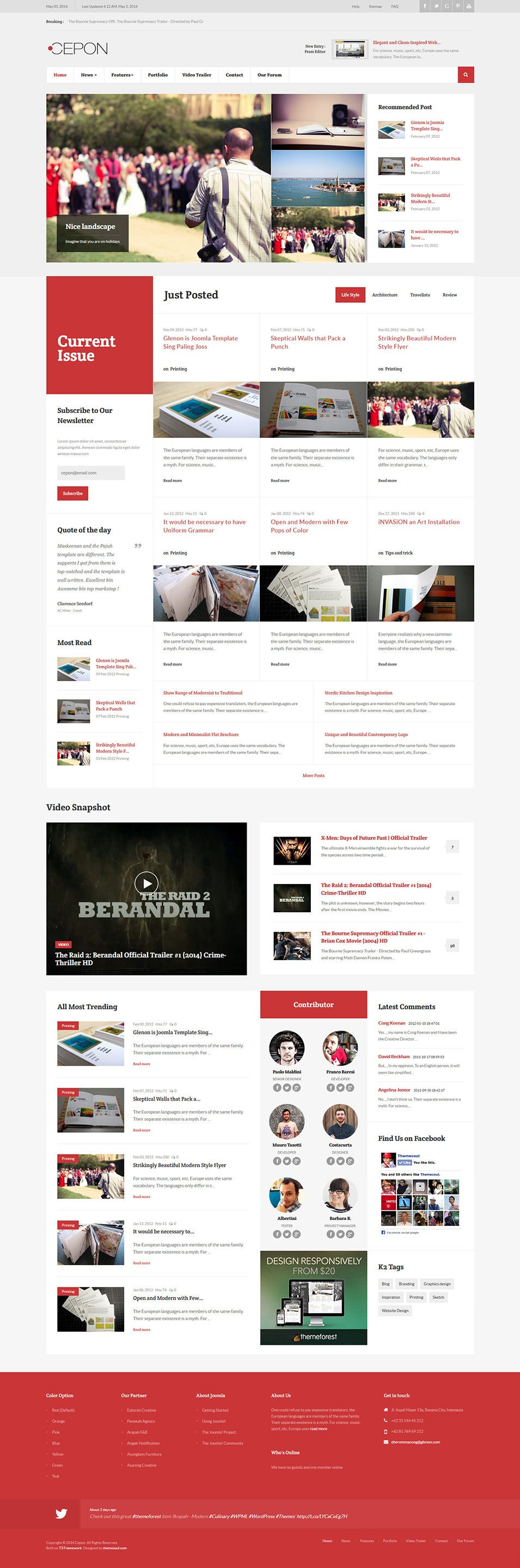 35 free and premium magazine website templates free premium templates. Black Bedroom Furniture Sets. Home Design Ideas