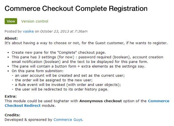 checkout complete registration
