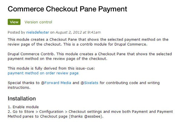 checkout pane payment