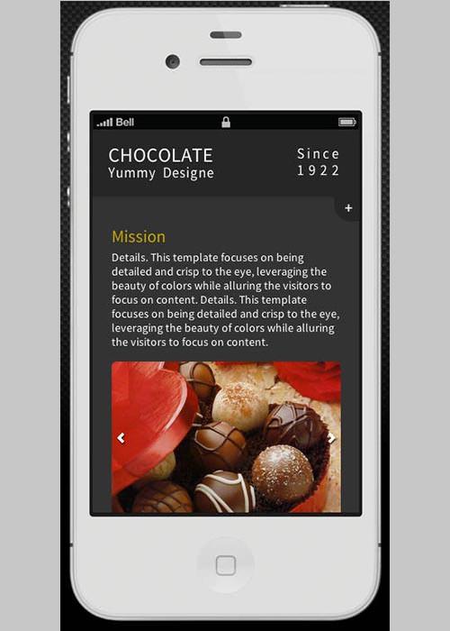 Chocolate Retina-Ready Mobile Template