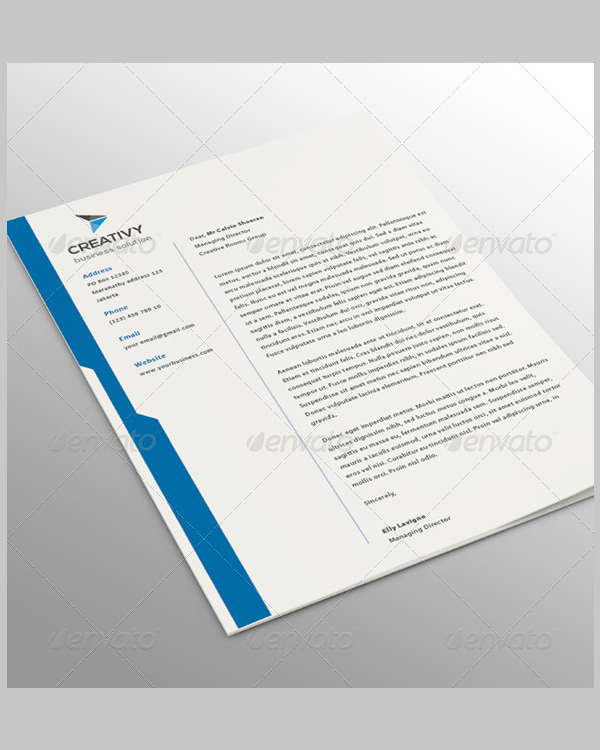 clean corporate letterhead