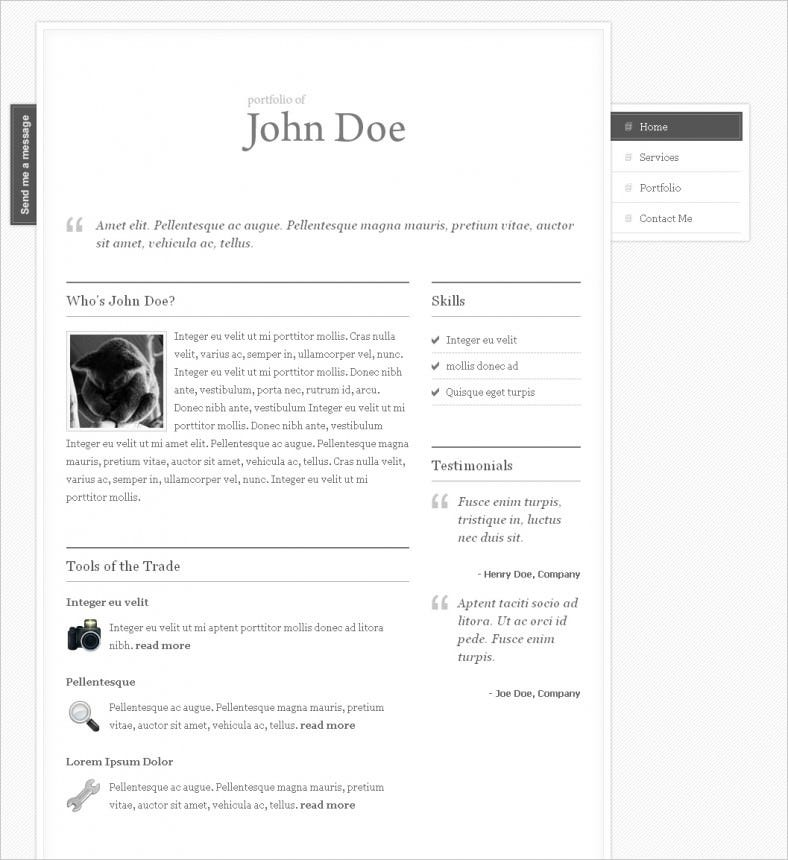 Clean My Portfolio One Page Theme