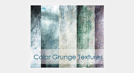 color grunge textures set