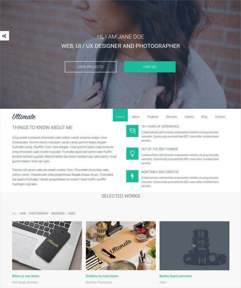 colorful html landing page template1 788x941