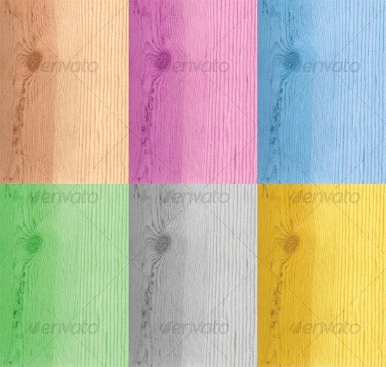colorful woodgrain texture set